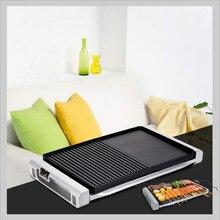 220V Электрическое/углеродное устройство для барбекю антипригарное барбекю для гриля корейское 3 в 1 Teppanyaki для наружных крытых семейных Вечерние