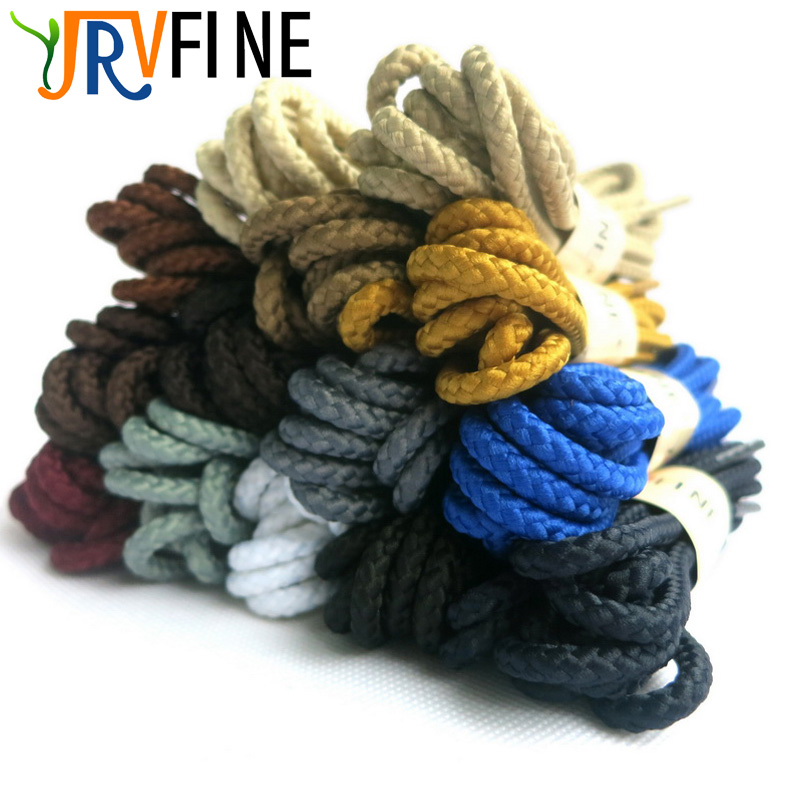 YJRVFINE 1 Pair Sneaker Round Shoelaces Solid Polyester Twisted Boots Shoes Laces High Quality Brand Fashion Lacet Chaussure