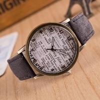 New Fashion montres Men Women Watches Denim Cloth Leather Wrist Watch Women Casual Quartz Watch relogio masculino Gift Hot Sale Women Quartz Watches