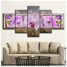 Diamond Painting Orchid Full Square / Round Drill Embroidery Floral Multi-Pearl Mosaic Home Decor
