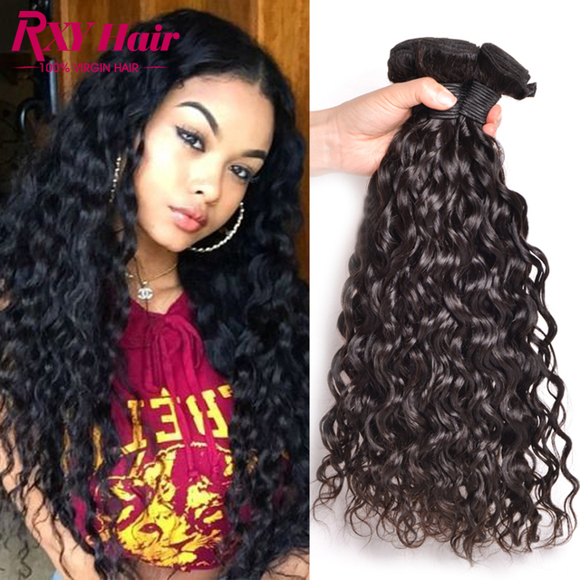 Rxy Hair Indian Curly Virgin Hair Natural Wave 3 Bundle Deals 8a