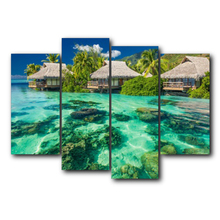 Laeacco Sanya Scenery Sea Canvas Prints Painting Home Decoration Wall Art Paintings Pictures For Living Room Bedroom No Frame