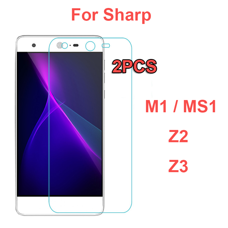 2Pc For Sharp Sense 2 Z2 Z3/P1 Case Tempered Glass Screen Protector Safety Protective Film For Sharp Z3 Z2 Mobile Phone Glass