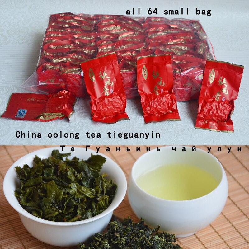 2016 Free Shipping 500g top grade Chinese Anxi Tieguanyin tea oolong China tie guan yin tea Tikuanyin health 64 SMALL bags(China (Mainland))