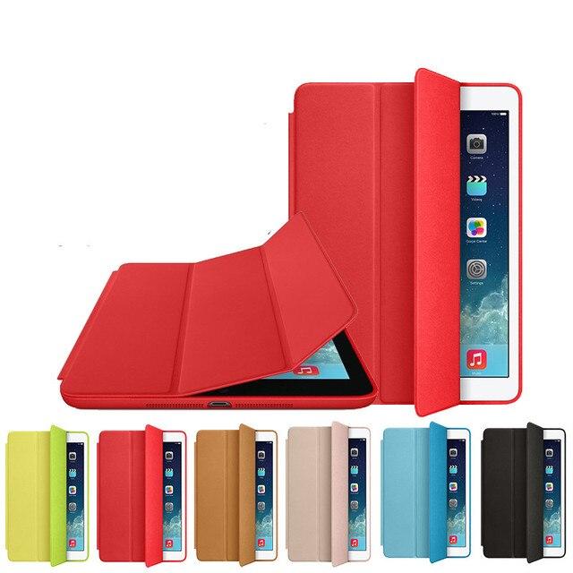 Оригинальная официальная 1:1 тонкий кожа магнитная смарт-чехол чехол для iPad Apple , 2 / 3 / 4 чехол для iPad mini 1 2 3 с кино и ручка