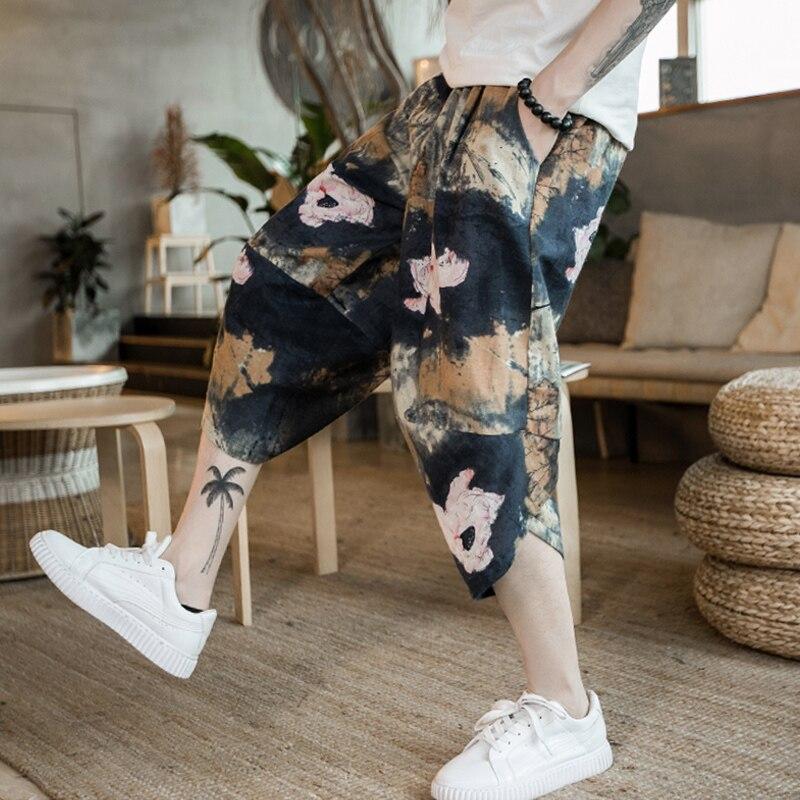 Повседневные мужские брюки с забавным принтом, хлопковые мужские брюки на осень и весну серого цвета, спортивные брюки больших размеров, черные брюки в китайском стиле