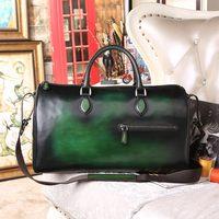 Hot sale Custom Italian Leather Holdalls Travel Duffle Bags handbags Weekender Bags For Men Promotion Wholesale Luggage Suitcase