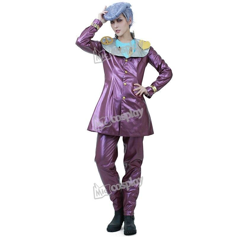 Anime JoJo s Bizarre Adventure 4 Josuke Higashikata Cosplay Costume Halloween Party Men Clothing