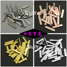 100pcs 4color Japan Long Strip Metal Punk Bar Nail Art Studs Jewelry 3D Decorations nail Accessory Stickers/Charms for Manicure