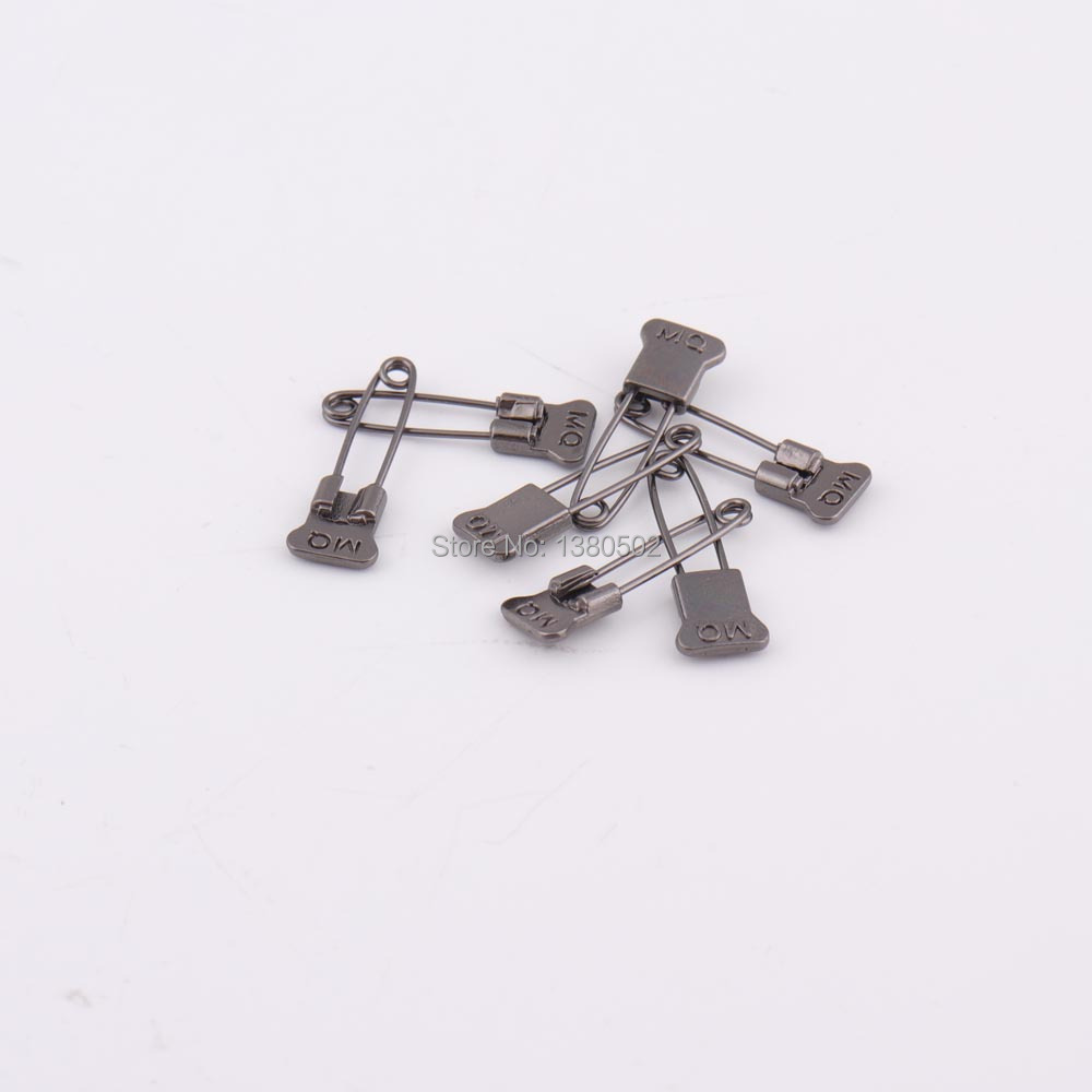 30pcs/lot Black color small size metal afety Pins Brooch pin for clothes label