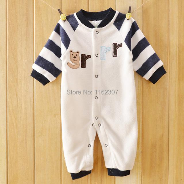 Nuevo 2014 de la alta calidad de bebé recién nacido ropa de manga larga mamelucos del bebé niños pijamas otoño bebé ropa interior