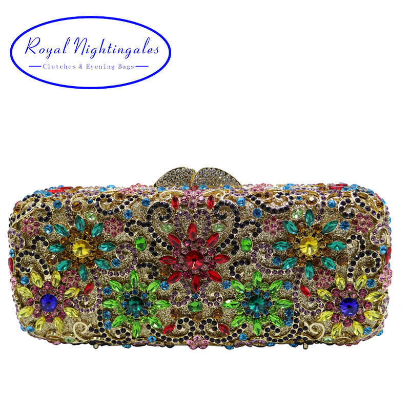 Flower Clutch Purse Luxury Women Crystal Evening Clutch Bags clutch adriana muti clutch