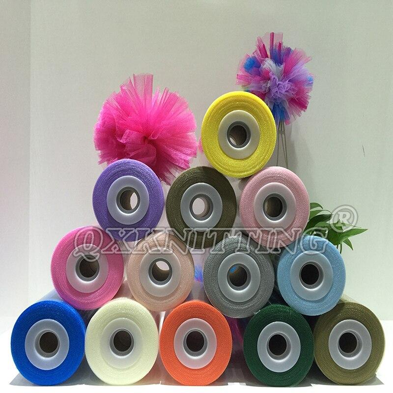 40 Colori Disponibili 100% Nylon Tulle Spool Rotolo 100 Yards (Anche il Commercio All'ingrosso)
