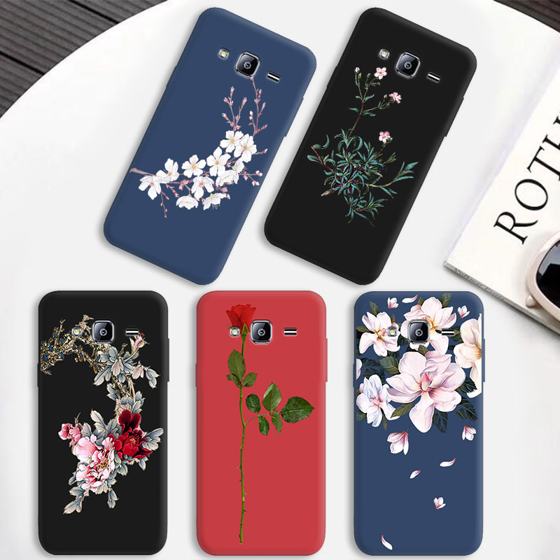 Luxury Color Bloom Phone Case For <font><b>Samsung</b></font> <font><b>Galaxy</b></font> J1 J2 Core Prime J3 2016 2017 <font><b>2018</b></font> Matte For iPhone 5 5S SE 6 6S 7 <font><b>8</b></font> Plus X image