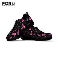 FORUDESIGNS Hair Stylist Women Sneakers Barber Tools Mesh Breathable Shoes Flat Platform Casual Lace up Shoes Female Trainers