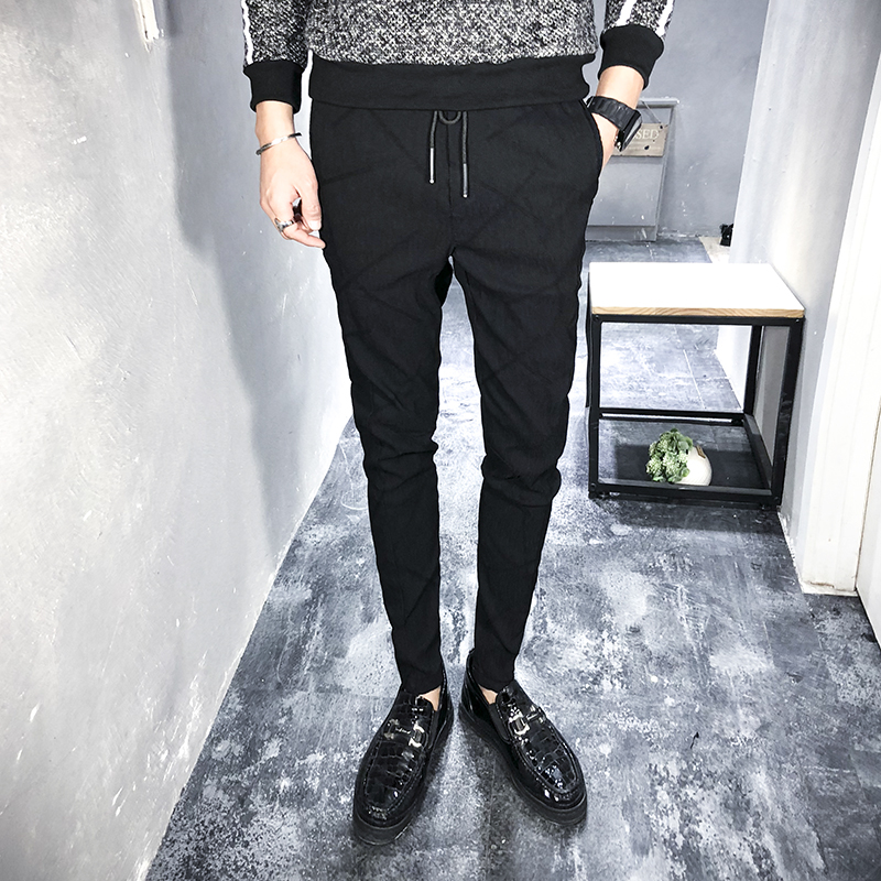 Spring Men Pants Hip Hop Casual Men's Joggers Plus Size 2019 Streetwear Slim Fit Harem Pant Boys Mid Waist Trousers Man Black