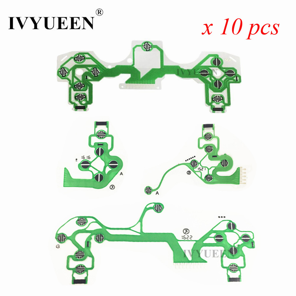 IVYUEEN 10 Pcs for Dualshock 4 PS4 DS4 PRO Slim Controller Conductive Film Conducting Film Keypad flex Cable for Playstation 4