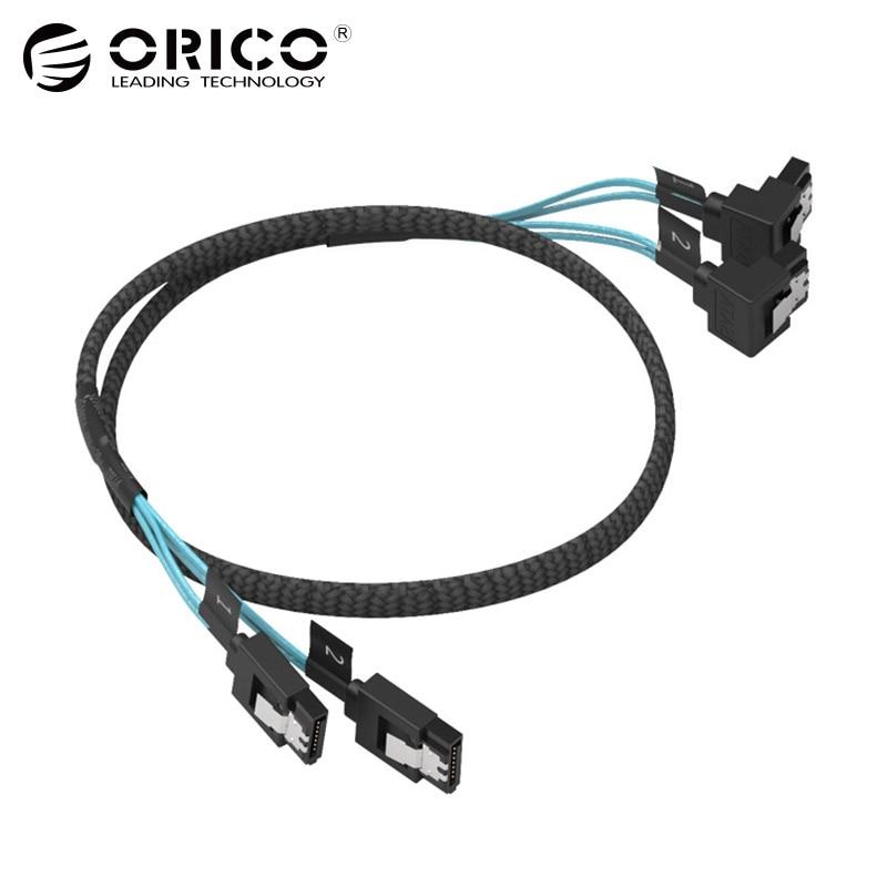 ORICO CPD-7P6G-BW902S Original SATA 3,0 CableTwo Set Datenkabel Solide SSD 6 Gbps Festplatte Datenleitung Schwarz Für HDD SSD