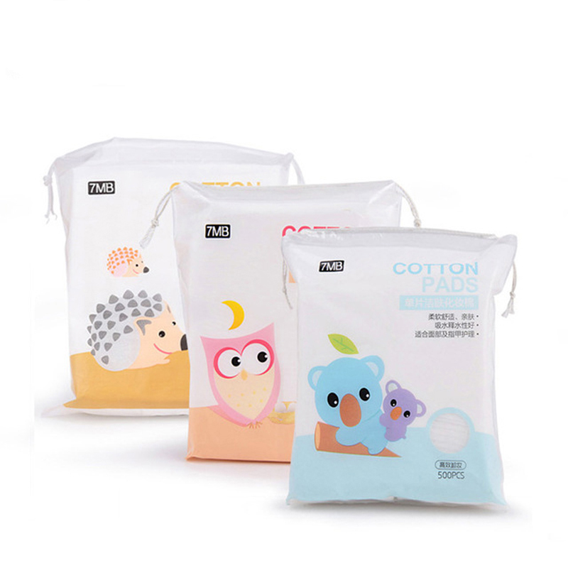 Soft cotton pad skin care beauty makeup remover cleansing towel nail Polish pad cosmetics bioaqua 500 pcs/ bag belleza gudetama