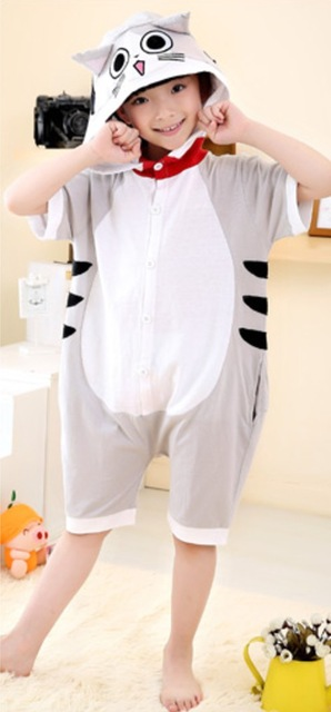 Anime Pijama Cartoon Unisex Adult Cheese Cat Pajamas Cosplay Costume Couple  Animal Onesie Sleepwear Kid Animal pajamas Halloween 7f9ac1f0a087c