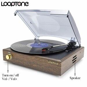 Image 2 - Looptone 3 高速古典的な蓄音機蓄音機ベルト駆動ターンテーブルビニールlpレコードプレーヤーw/2 内蔵ステレオスピーカー