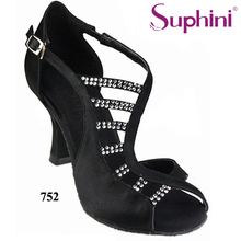 Free Shipping Lady Latin Dance Shoes Salsa Dance Shoes , 4incn Flare Heel Latin Dance Shoes