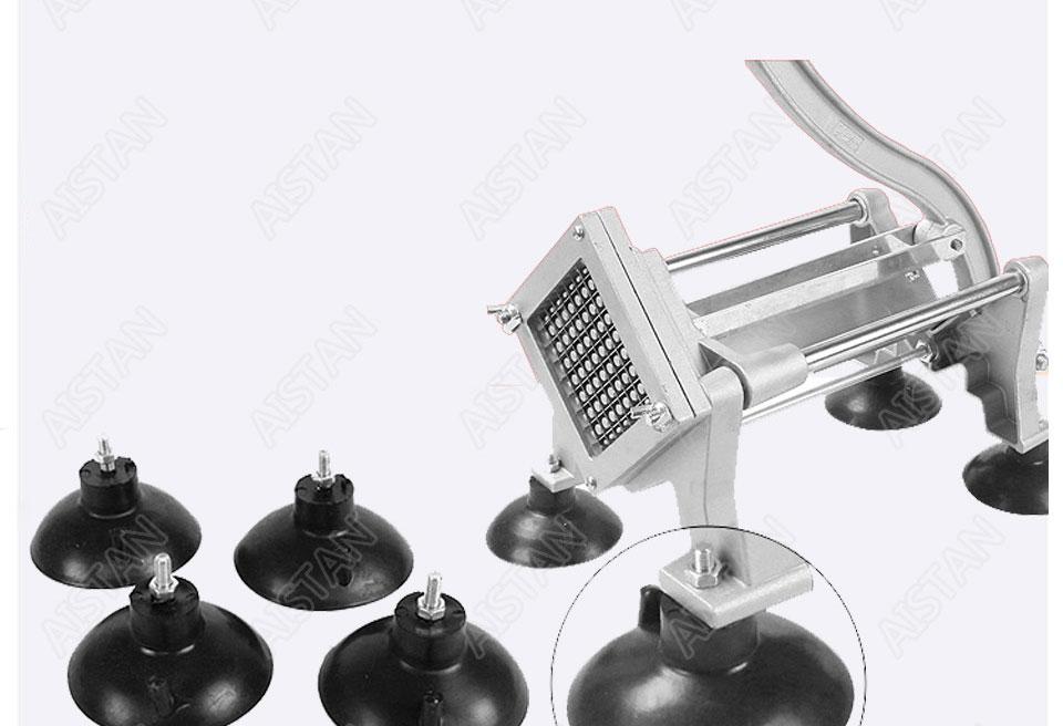 ST1 commerical manual aluminum die-casting potato chipper cutter potato chips cutting machine 11