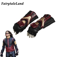 The Flash Season 3 Vibe Cosplay Accessory Superhero cosplay cycling gloves Fancy leather cosplay gloves Flash Vibe gloves