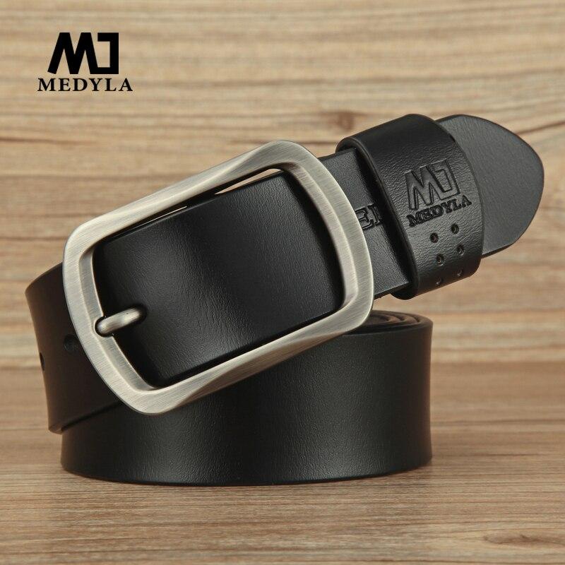 MEDYLA ceinture pour hommes vache en cuir véritable sangle Designer ceintures homme ceinture homme haute en cuir véritable ceinture hommes & Cummerbunds