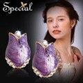 Специальный новинка пурпурная роза эмаль орать себе ювелирные изделия бесплатная доставка вечернее ну вечеринку для женщин ED1411128