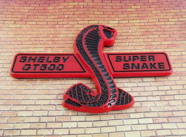 Red Black super snake COBRA for Mustang shelby GT500 GT 500 Emblem Badge Sticker ford mustang cobra jet