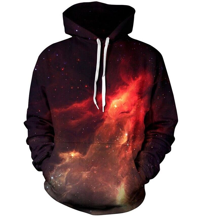 2018 New Hipster nebula Galaxy Print 3d Hoodie punk Women Men Sweatshirts Jumper Outfits Casual Sweats Free shipping