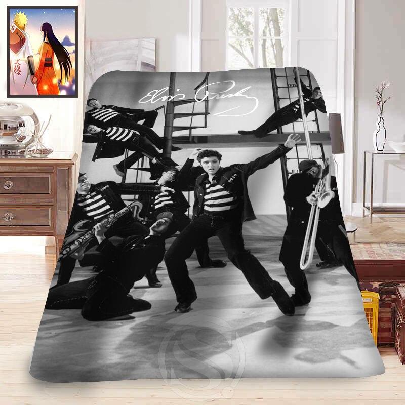 F315 Elvis Presley of everyday life Custom Home Decoration Bedroom Supplies Soft Blanket LFU133