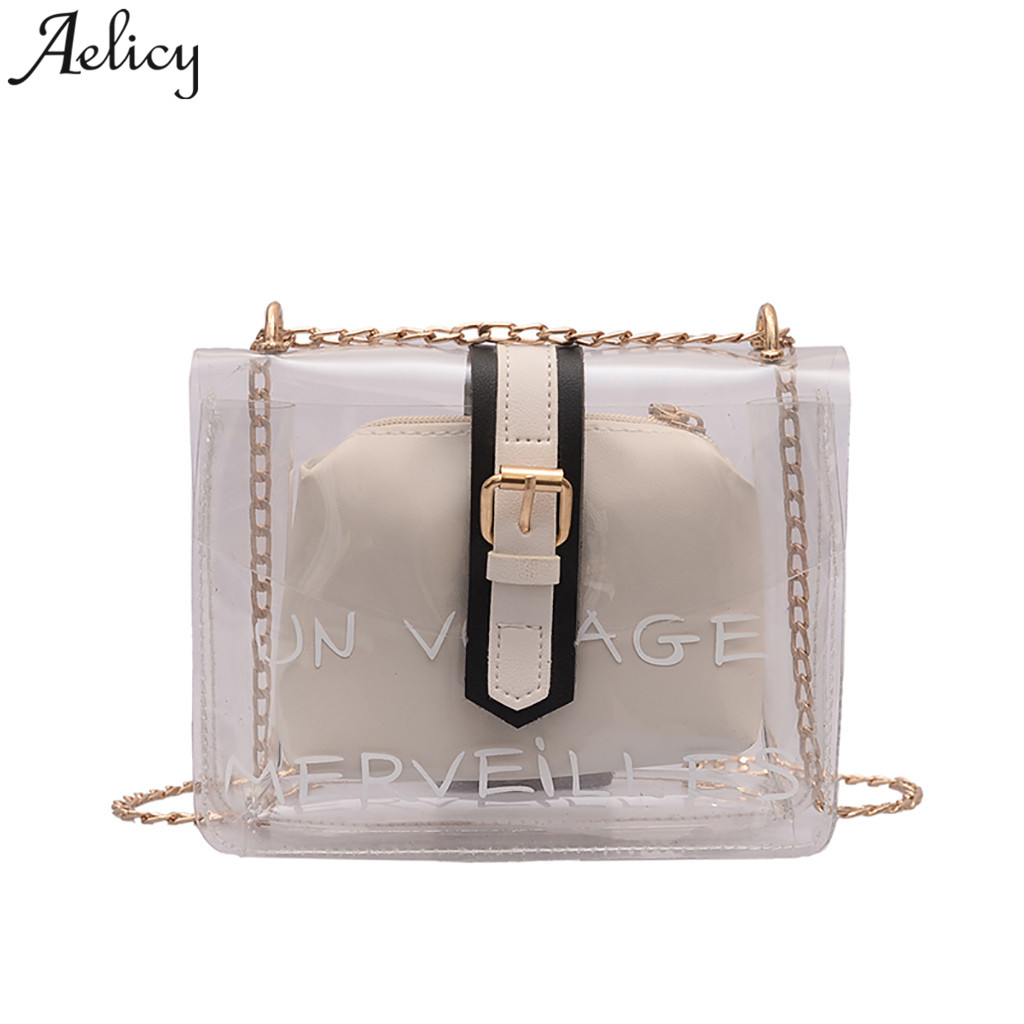 Aelicy girls shoulder bags Simple Transparent Versatile women Messenger bags Fashion Ladies Small Square bag bolsa feminina 2019Aelicy girls shoulder bags Simple Transparent Versatile women Messenger bags Fashion Ladies Small Square bag bolsa feminina 2019