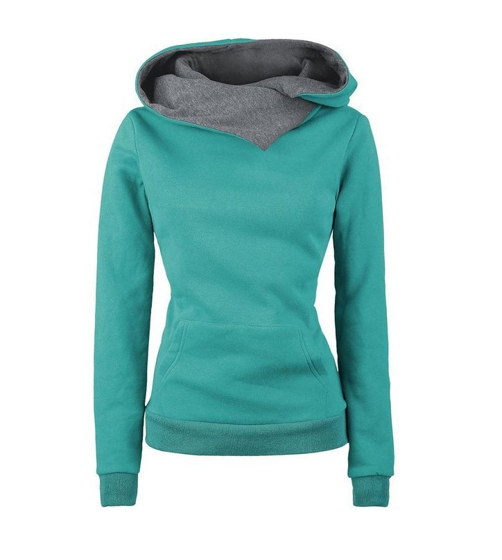 Spring Autumn Winter Women Casual Solid Hoodies Unisex Lapel Hooded New Sweatshirts Pullovers Turn-down Collar WBA0010