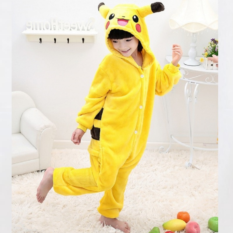 Costume Pikachu Bambino.Costume Halloween Pokemon Kids Pajamas Kid Jumpsuit Onesie Pajamas