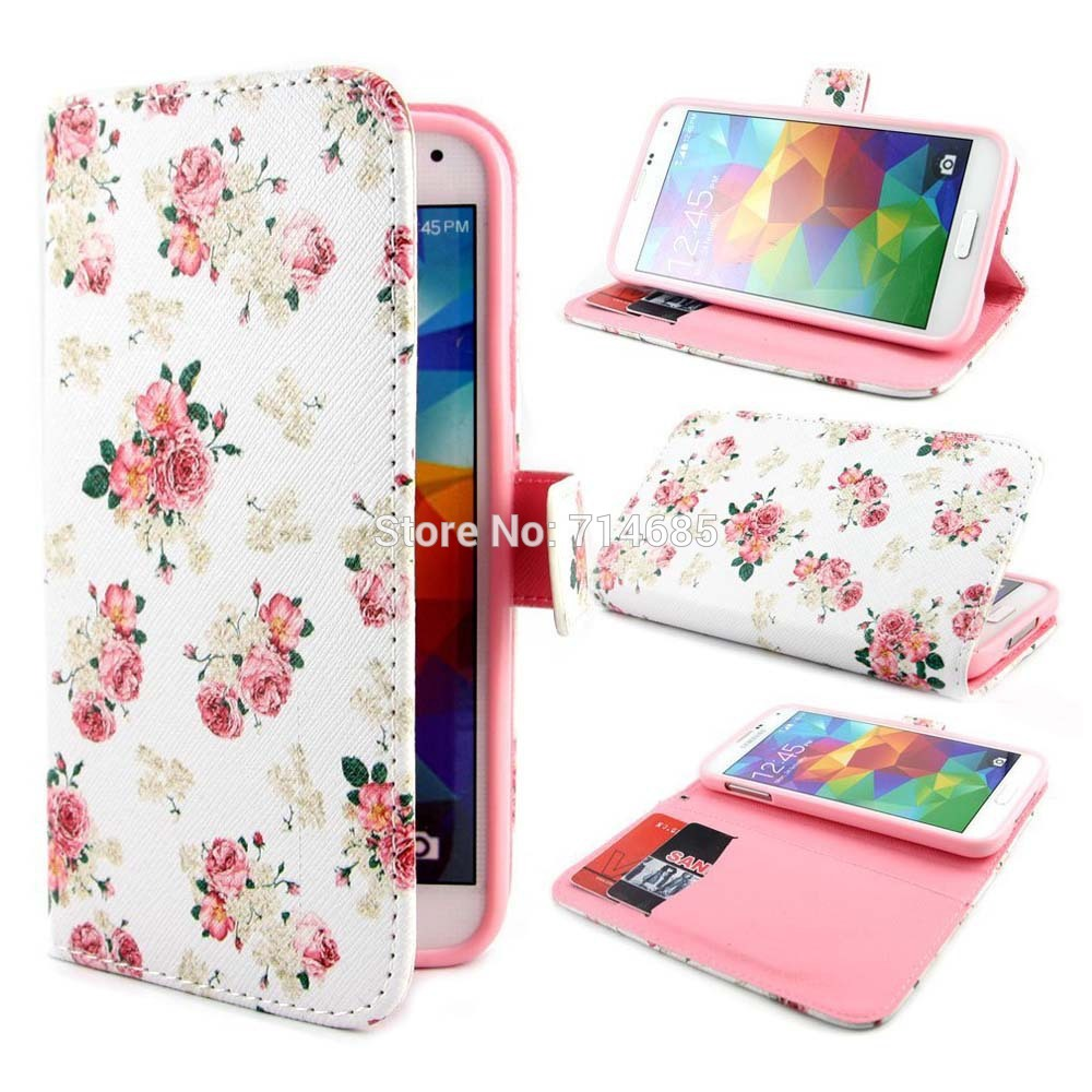 Floral Phone Case For Samsung Galaxy A3 A5 A7 A8 E5 E7 J1