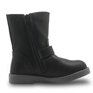 Image 3 - APAKOWA בנות אמצע עגל חורף מגפי עור מפוצל אופנה נעלי ילדים חדש מוצק מרטין מגפי בנות מגפי רכיבה האיחוד האירופי 25 30