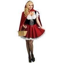 De alta calidad de disfraces de halloween para las mujeres sexy fantasy cosplay caperucita roja uniformes del juego fancy dress outfit w428856