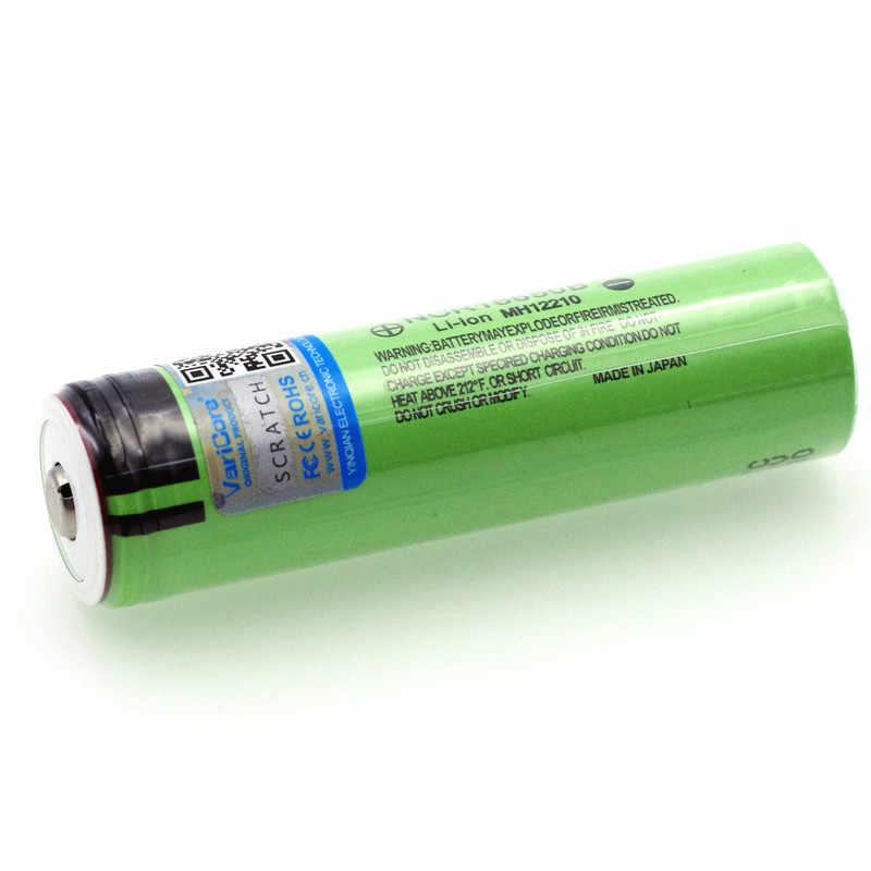 بطاريّة ليثيوم قابلة لإعادة الشحن جديدة أصلية 18650 3.7 فولت 3400 مللي أمبير في الساعة NCR18650B مع بطاريات مدببة (بدون PCB) + صندوق