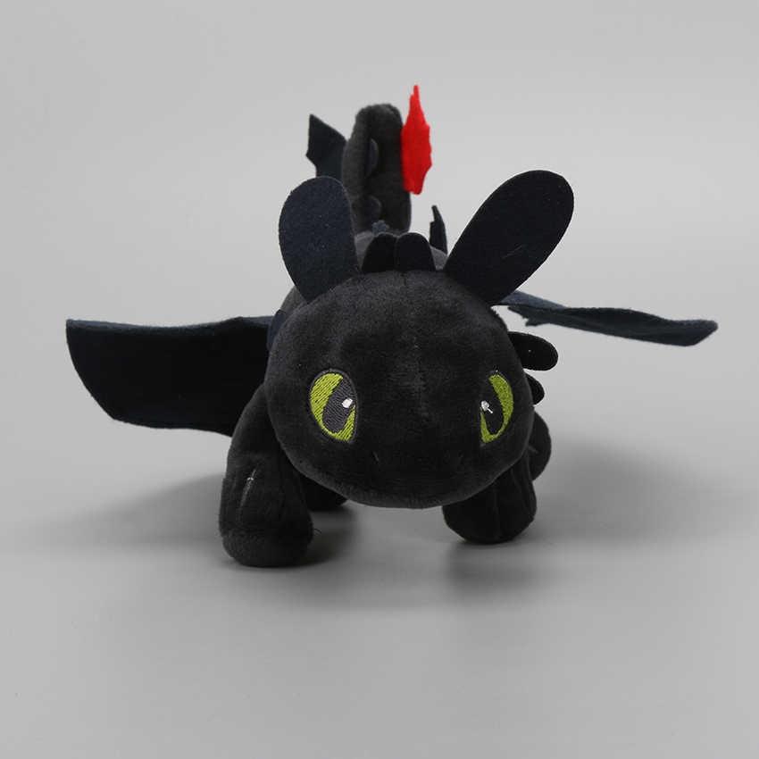 Luz Fúria Como treinar O Seu Dragão Desdentado Fúria Da Noite Boneca de Pelúcia Brinquedo Macio Recheado de Pelúcia 55 cm 40 cm 33 cm 22 cm pode escolher