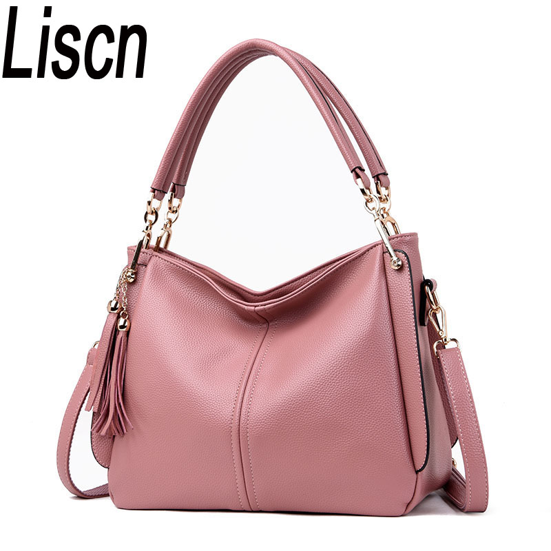 2019 new Designer Hangbags Women Cow Leather Shoulder Bags Ladies Solid Bags Female Large Tassel Tote Women Casual Crossbody Bag2019 new Designer Hangbags Women Cow Leather Shoulder Bags Ladies Solid Bags Female Large Tassel Tote Women Casual Crossbody Bag