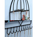1Pc Creative Metal Tree Bird Earring Necklace Bracelet Ring Stand Wall Mounted Jewelry Rack Display Holder