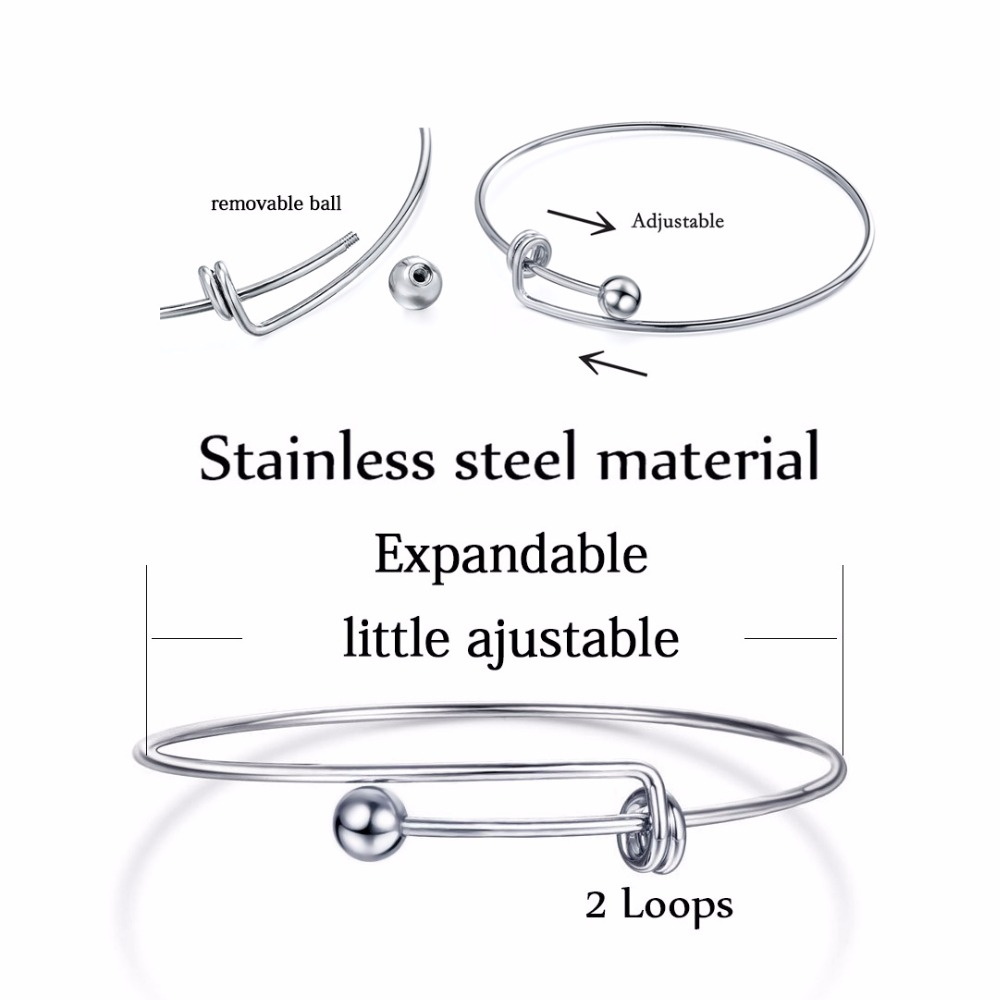 5pcs Multi Size Fashion Wire Copper Metal Expandable Adjustable Blank Wire Charms Bracelet Bangle For DIY Jewelry in Bangles from Jewelry Accessories