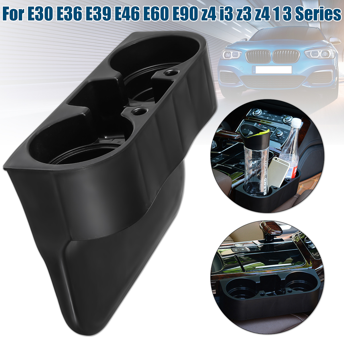For BMW e30 e36 e39 e46 e60 e90 z4 i3 z3 z4 1 3 series Car Black Front Drinks Cup Holder Car Front Center Console Cup Rack