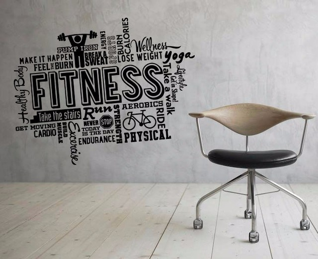 Cool gym sport fitness decor living room home schools offices