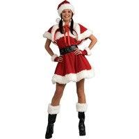 Sexy Adult Women Christmas Costume Sweetheart Miss Santa Dress