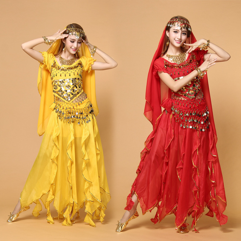 Women Belly Dance Costume Adult Bollywood Dance Cosplay Costumes Set Indian Bollywood Female Lady ballet Dresses Free Shipping