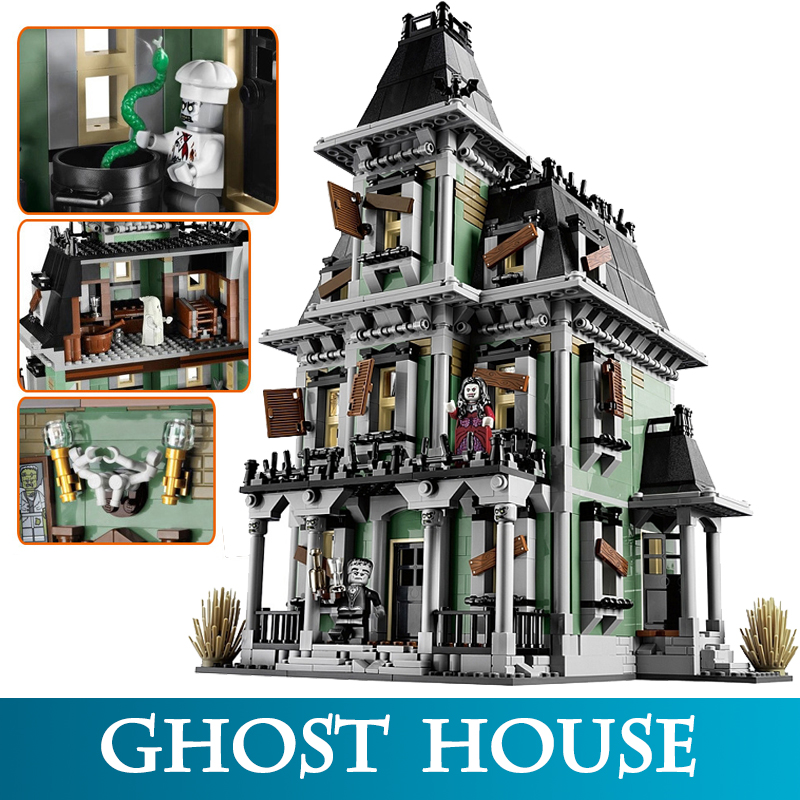 16007 2141Pcs Monster Fighter The Haunted House Model Building Bricks Blocks Child Educational Block Toys Compatible LegoINGLYS 2141pcs the haunted house model set building kits block toy 16007 diy monster fighter educational blocks toys for children