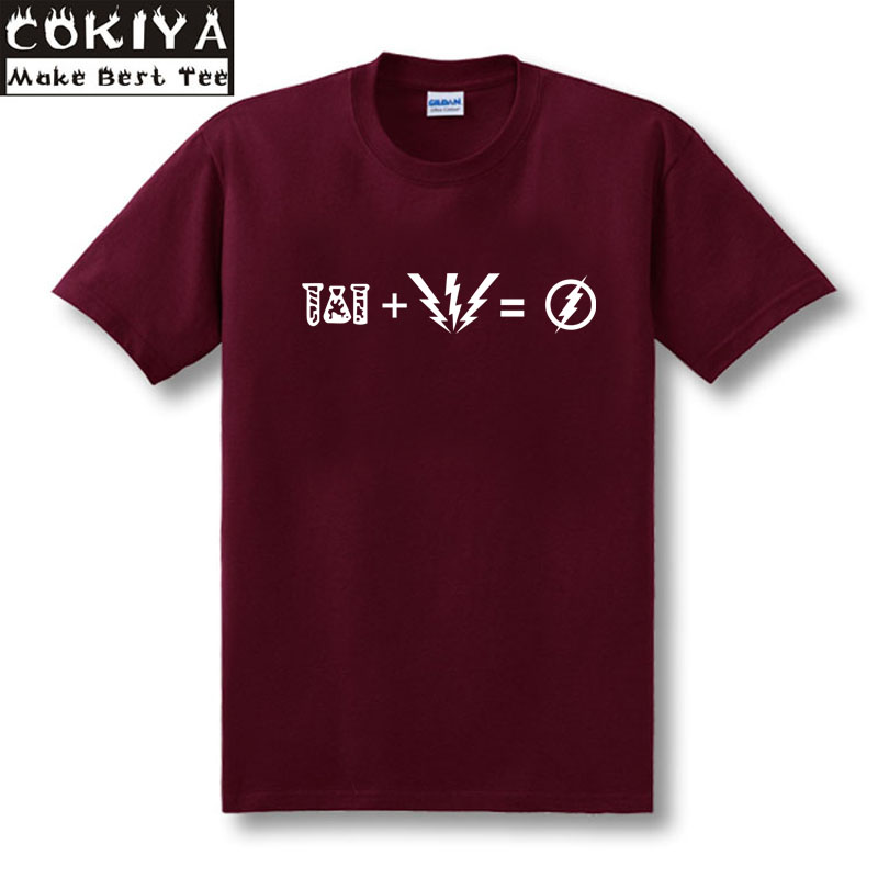 das rote T-Shirt von FLASH Equation T-Shirt aus 100% Baumwolle Wie vom Sheldon Cooper-T-Shirt getragen TBBT Big Bang Theory-Shirt